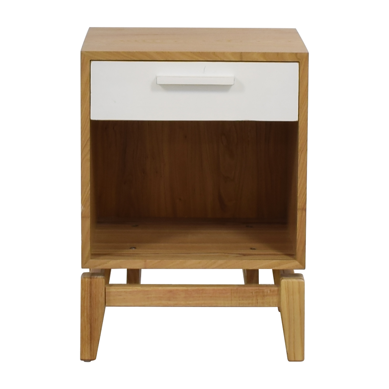 Joss & Main Joss & Main Natural and White Single Drawer End Table nyc