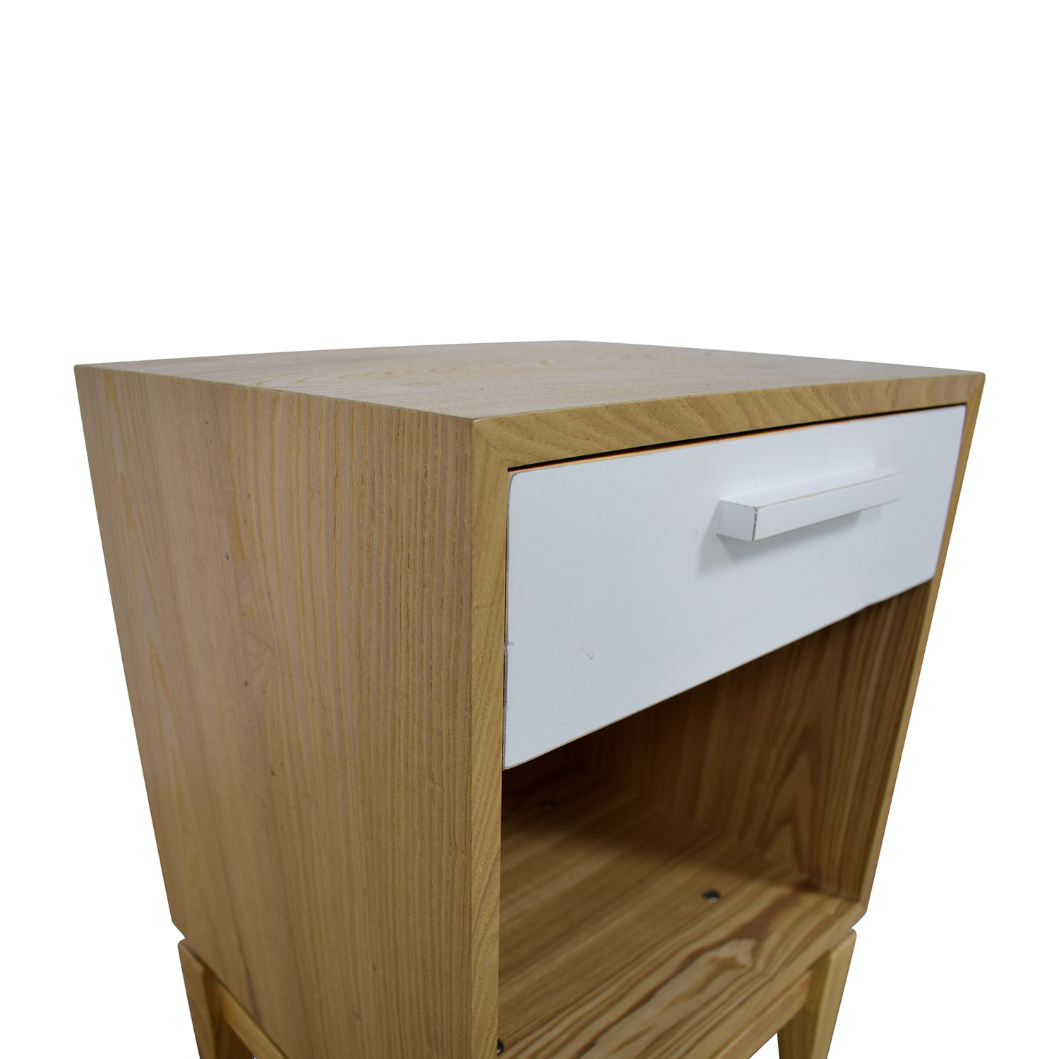 Joss & Main Joss & Main Natural and White Single Drawer End Table