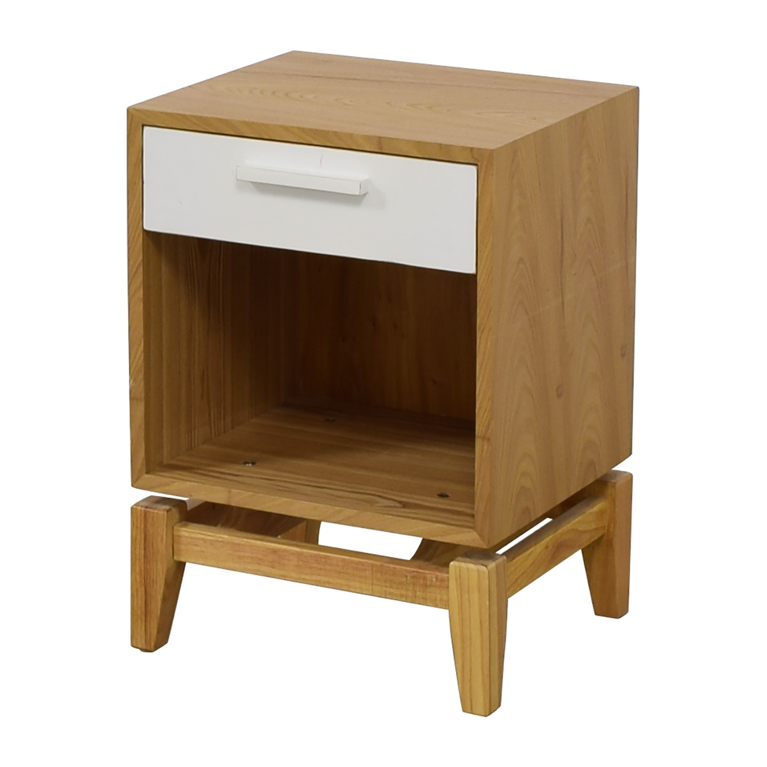 shop Joss & Main Natural and White Single Drawer End Table Joss & Main Tables