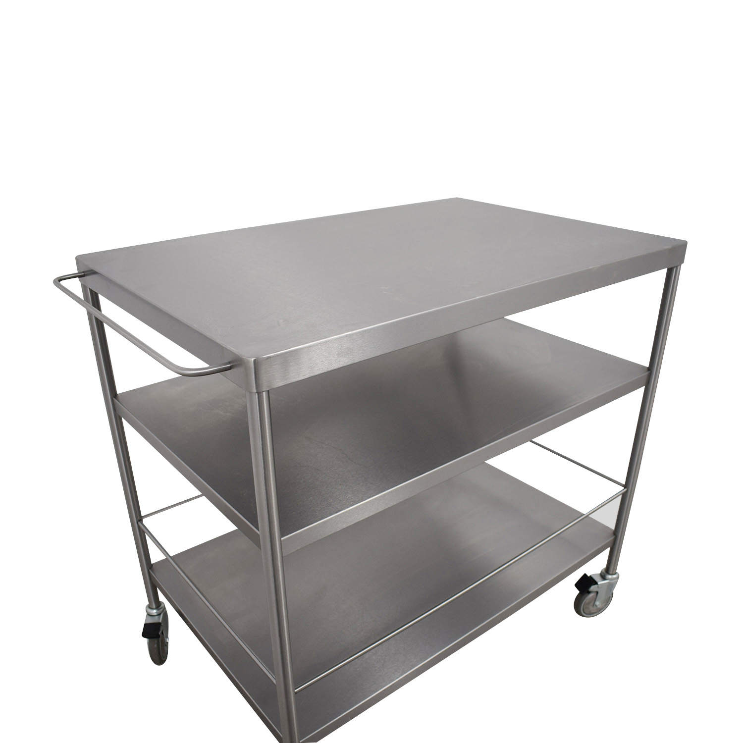 59 off ikea ikea stainless steel kitchen cart tables. Black Bedroom Furniture Sets. Home Design Ideas