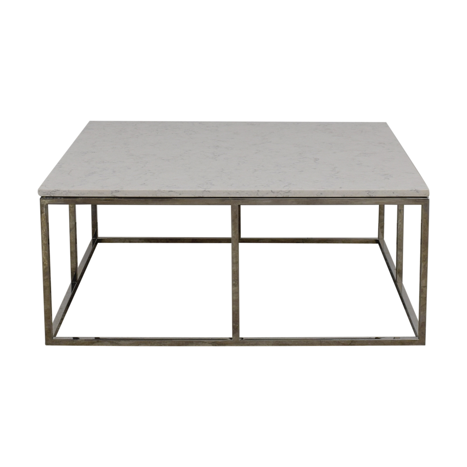 - 82% OFF - Room & Board Room & Board White Marble Coffee Table / Tables