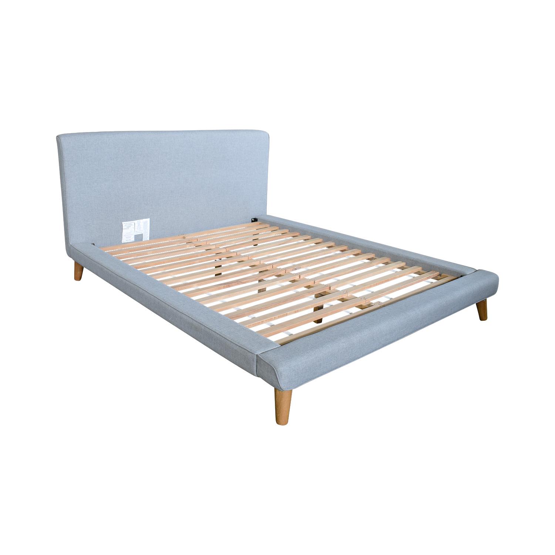 West Elm Grey Upholstered Queen Bed Frame / Bed Frames