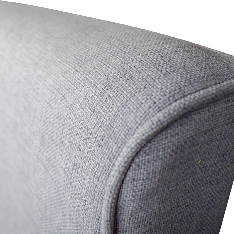 West Elm West Elm Grey Upholstered Queen Bed Frame on sale