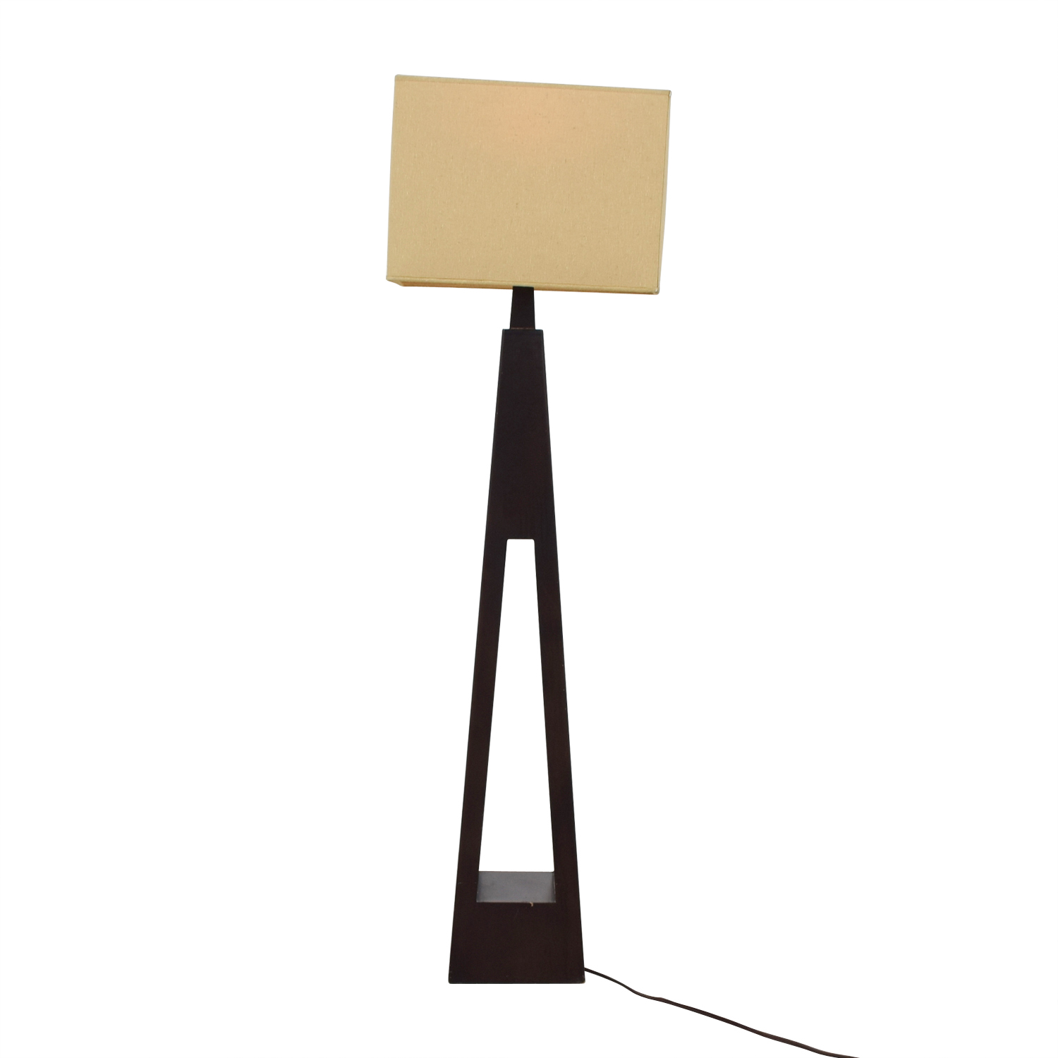 shop Triangular Wood Base Floor Lamp
