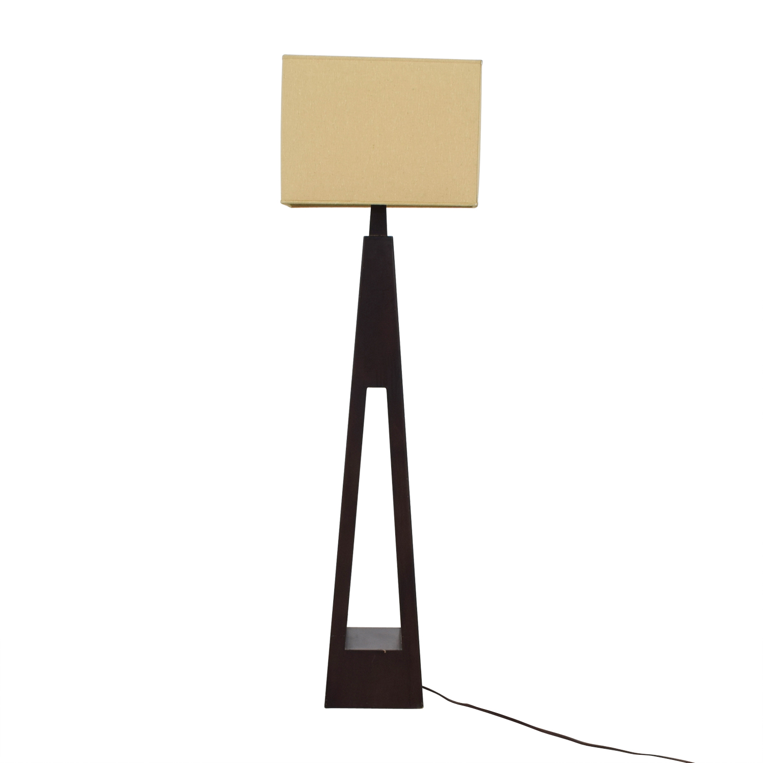 shop Triangular Wood Base Floor Lamp online