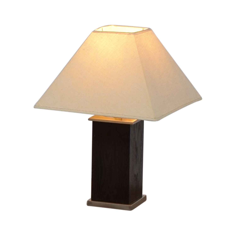 buy Brown Block Base Table Lamp online