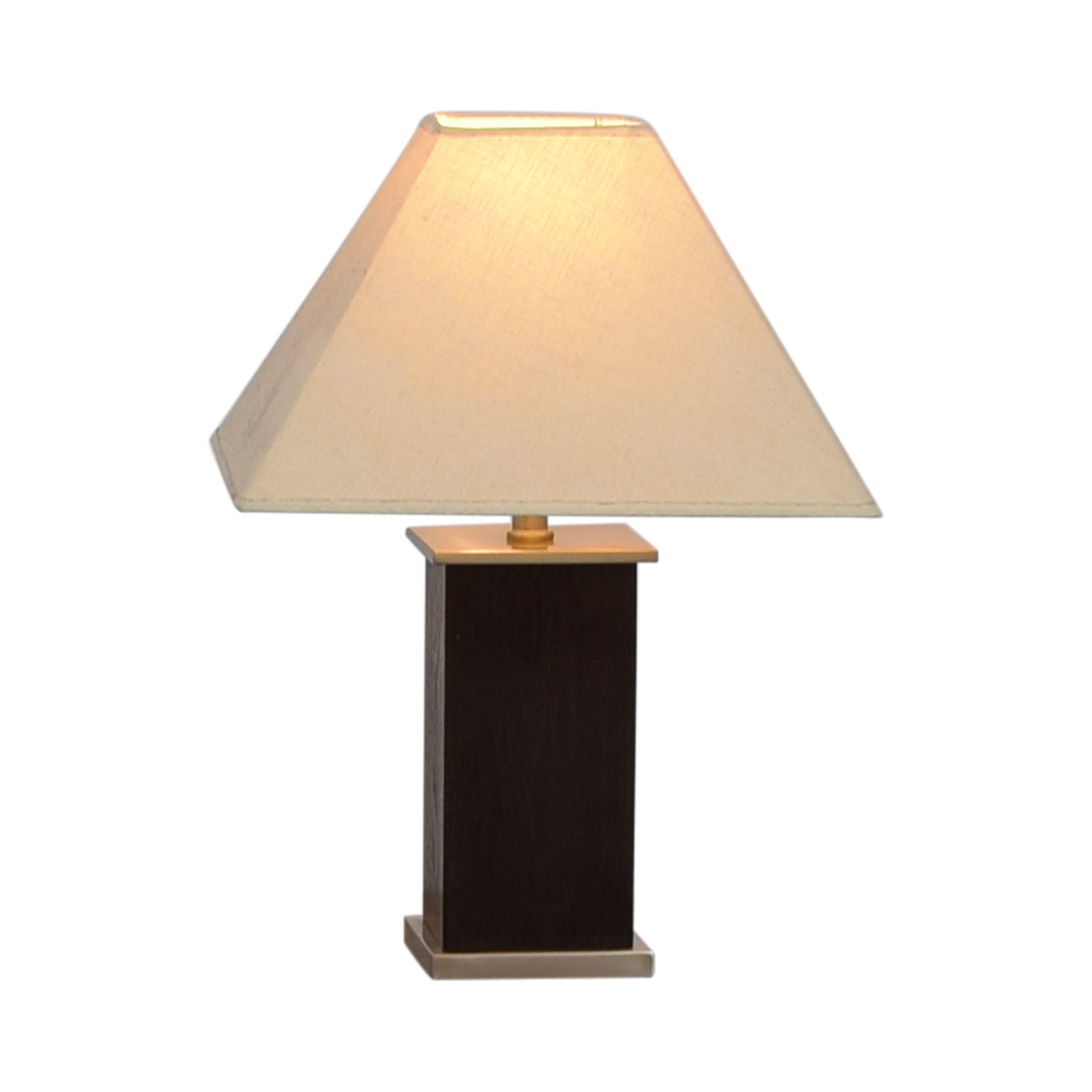 shop Brown Block Base Table Lamp Lamps