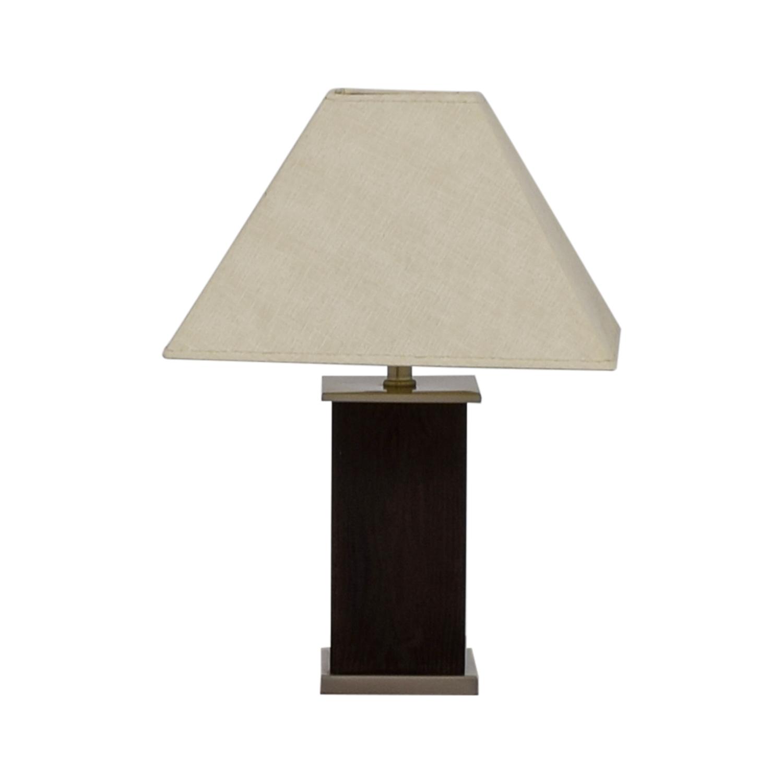 Brown Block Base Table Lamp / Decor