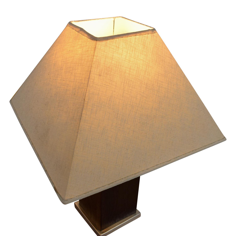 buy Brown Block Base Table Lamp