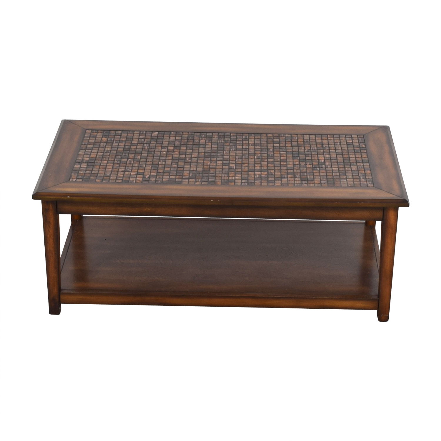 Raymour & Flanigan Raymour & Flanigan Wynn Mosaic Wood Coffee Table Sofas