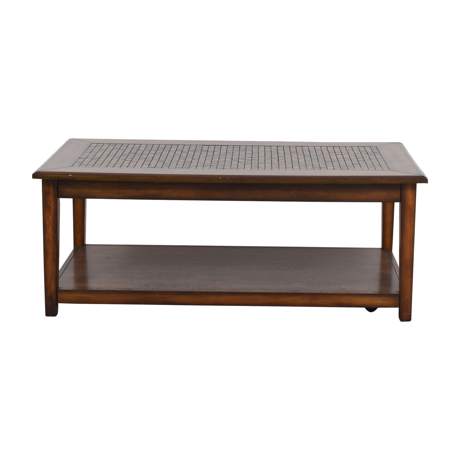 shop Raymour & Flanigan Wynn Mosaic Wood Coffee Table Raymour & Flanigan