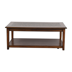 Raymour & Flanigan Raymour & Flanigan Wynn Mosaic Wood Coffee Table discount