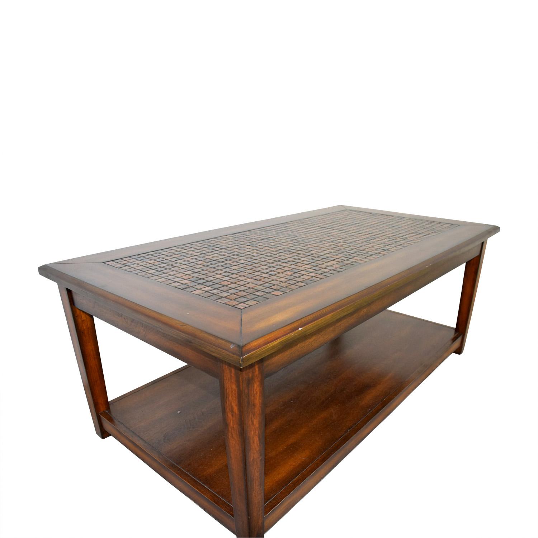 - 71% OFF - Raymour & Flanigan Raymour & Flanigan Wynn Mosaic Wood
