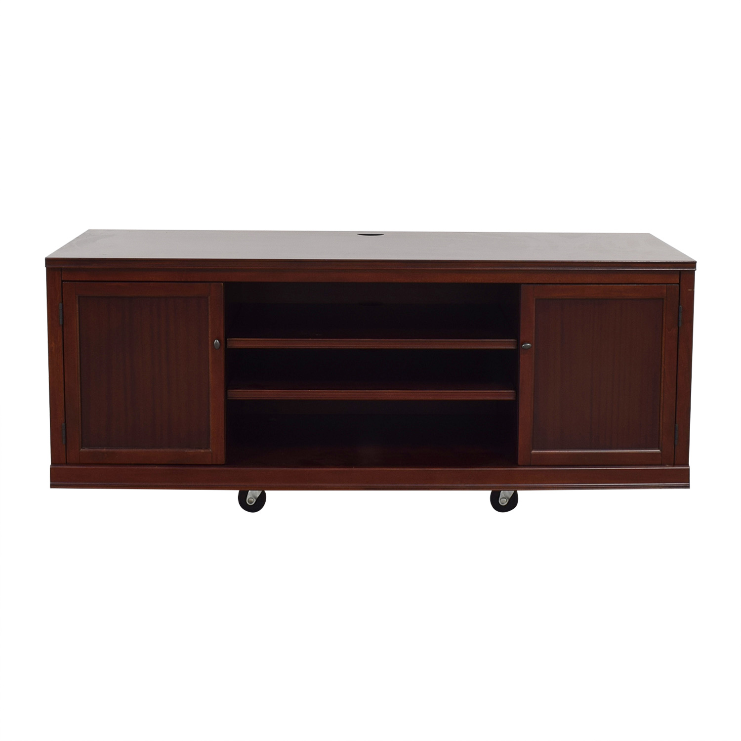 Pottery Barn Pottery Barn Logan Wood TV Stand price