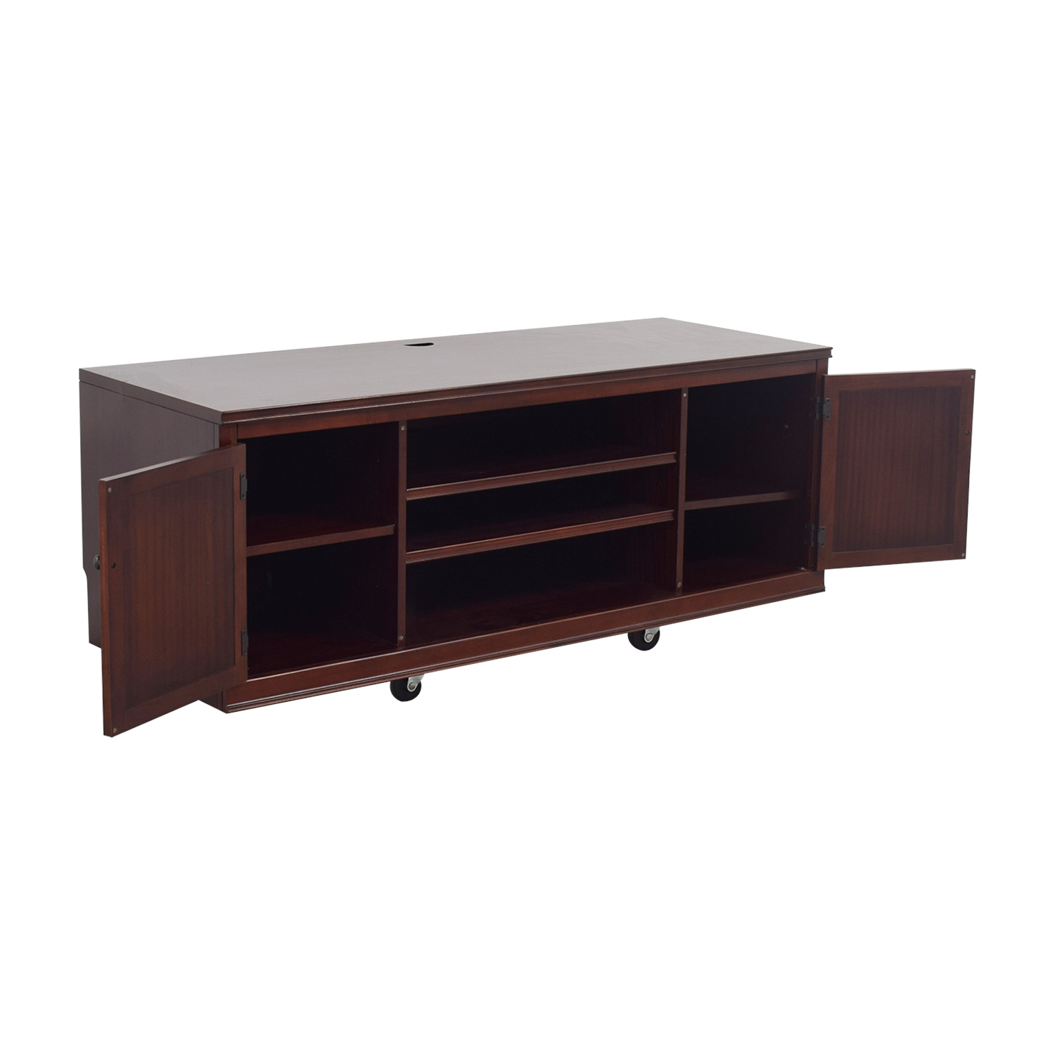 Pottery Barn Pottery Barn Logan Wood TV Stand