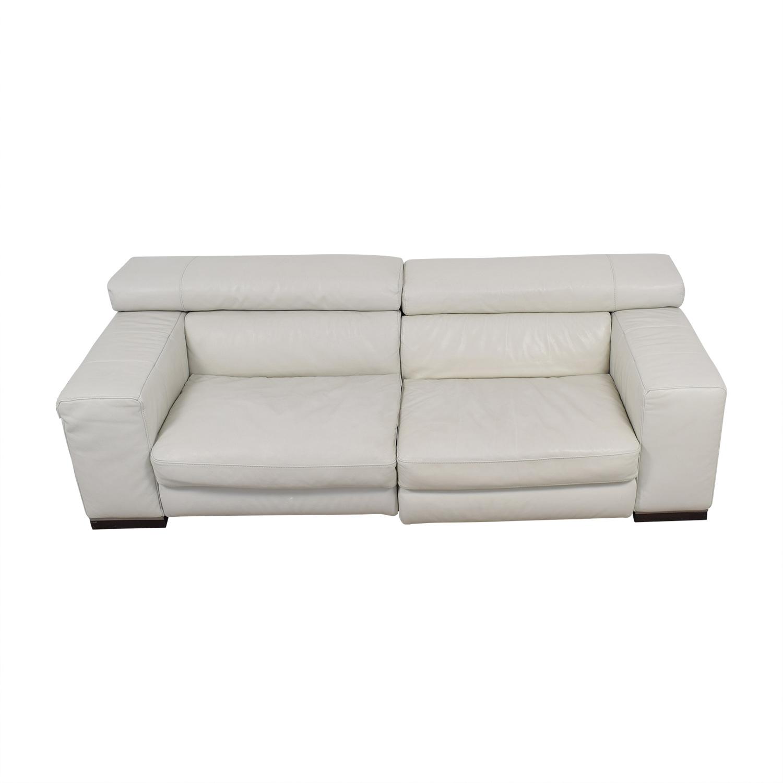 Natuzzi Natuzzi White Leather Sofa discount