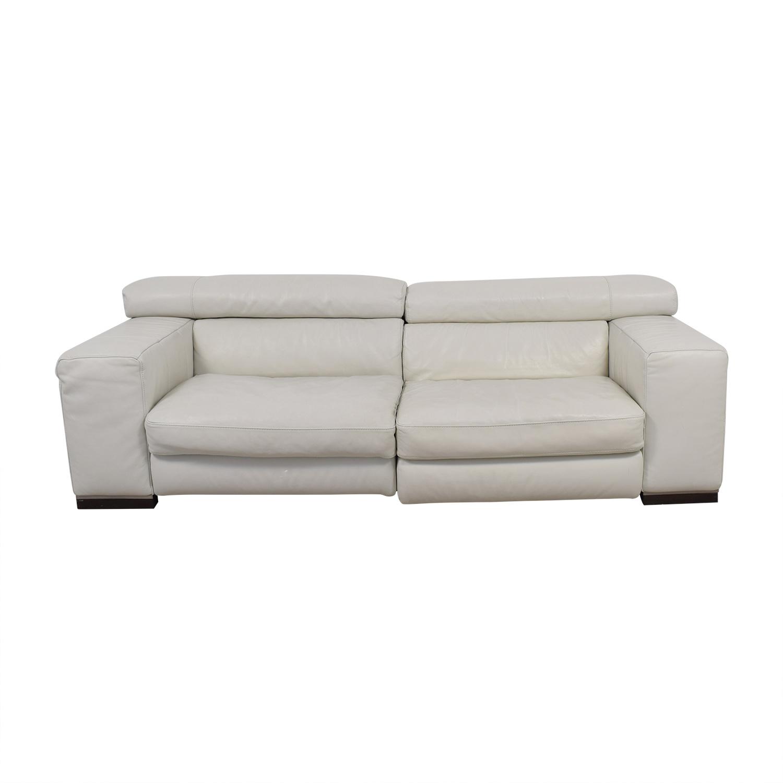 Natuzzi White Leather Sofa sale