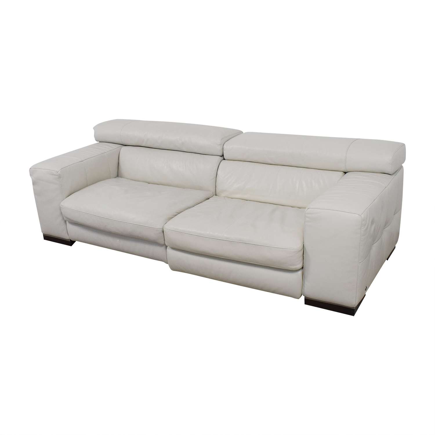 Leather Sofa Price: Natuzzi Natuzzi White Leather Sofa / Sofas
