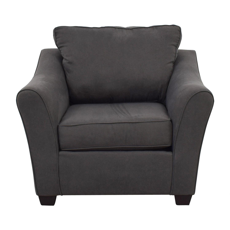 buy Pilgrim Furniture Pilgrim Furniture Grey Upholstered Chair online