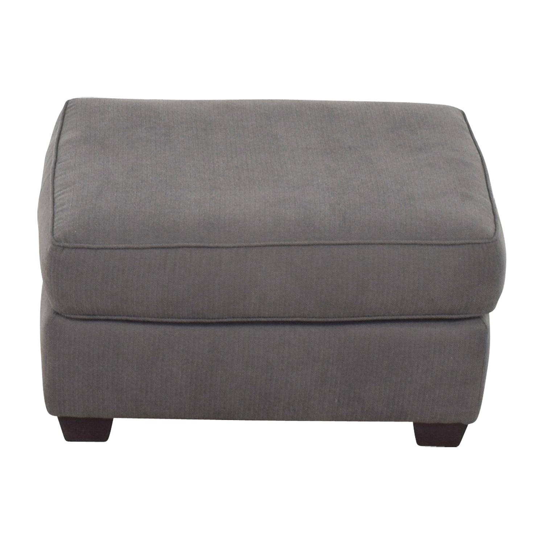 shop Pilgrim Furniture Gray Ottoman Pilgrim Furniture Chairs