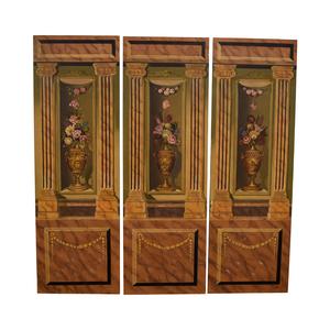 Maitland-Smith Maitland-Smith Hand Painted Three-Panel Screen dimensions