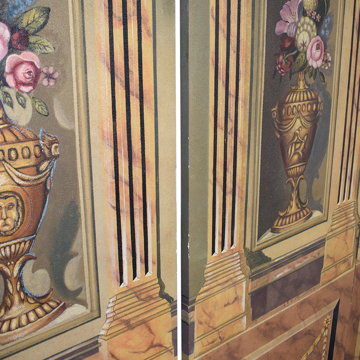 shop Maitland-Smith Hand Painted Three-Panel Screen Maitland-Smith Dividers