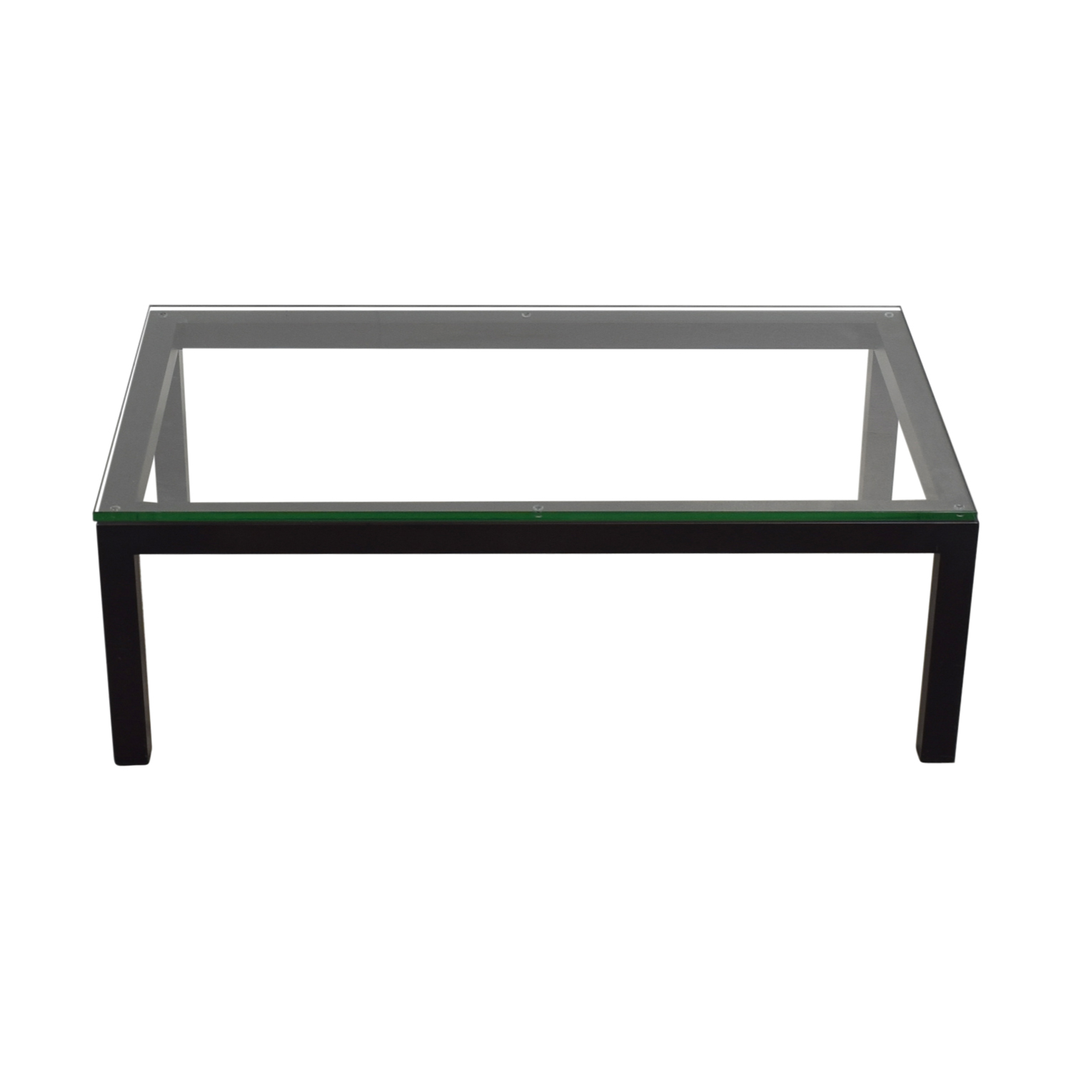buy Crate & Barrel Parsons Glass Top Coffee Table Crate & Barrel Sofas