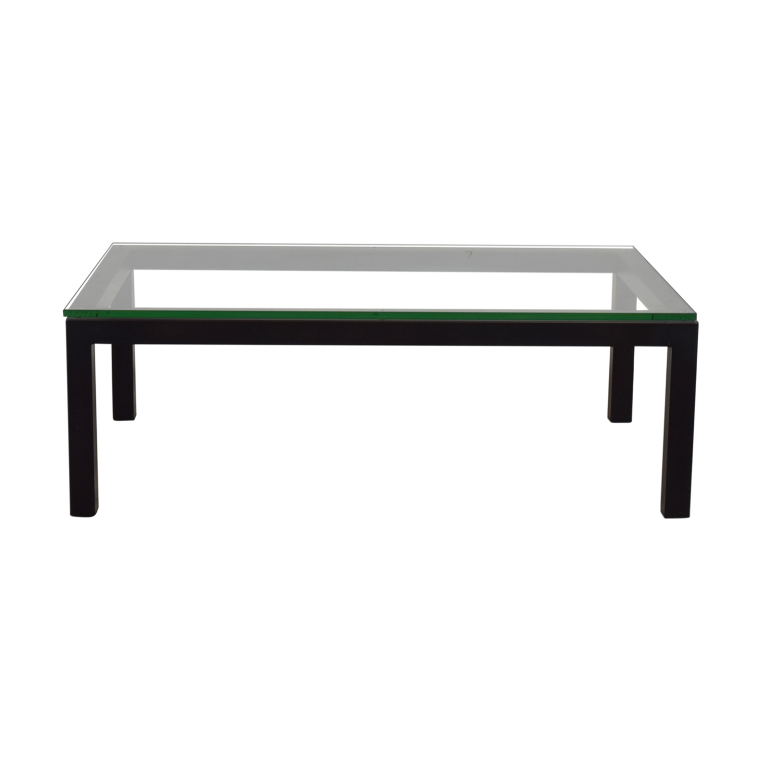 Crate & Barrel Crate & Barrel Parsons Glass Top Coffee Table used