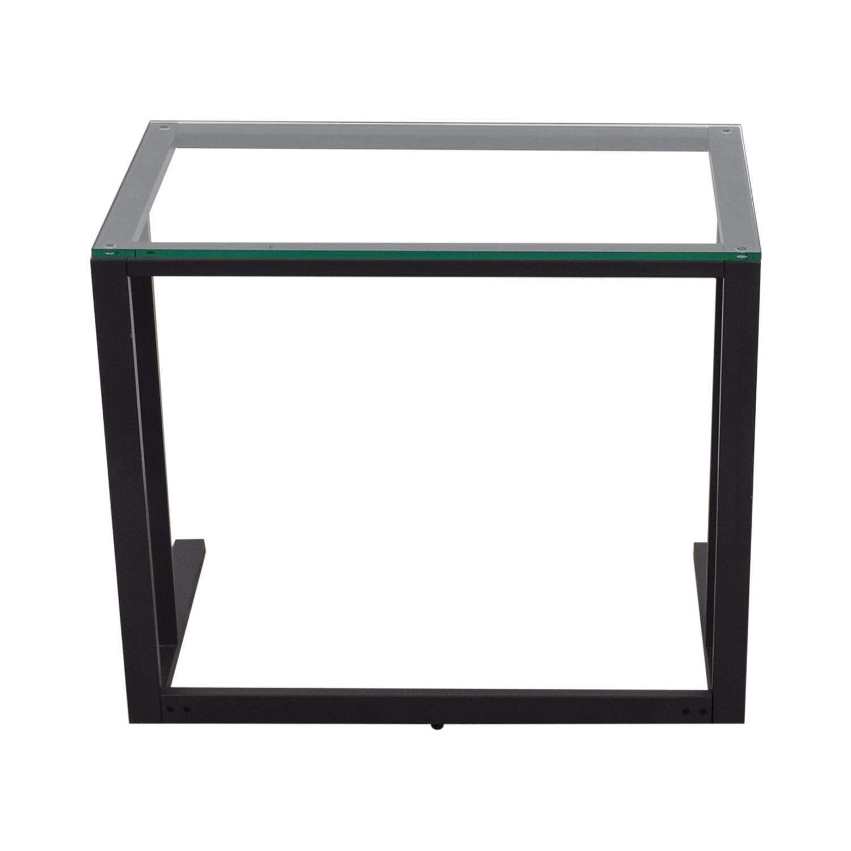 Crate Barrel Pilsen Graphite Desk