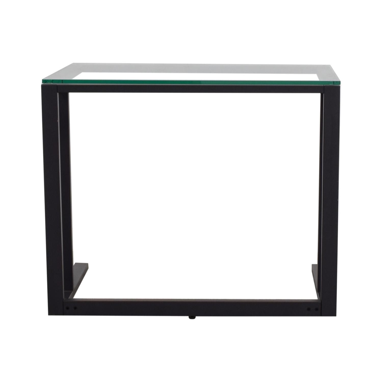 Crate & Barrel Pilsen Graphite Desk Crate & Barrel