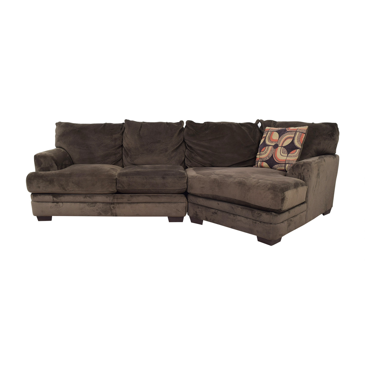 Wondrous 86 Off Bobs Discount Furniture Bobs Furniture Microfiber Sectional Sofas Beutiful Home Inspiration Truamahrainfo