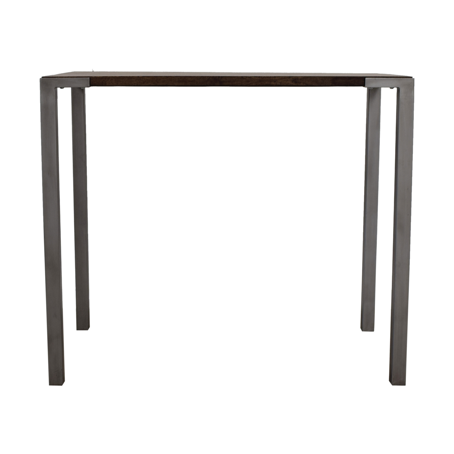 CB2 Stilt Wood and Metal Table sale