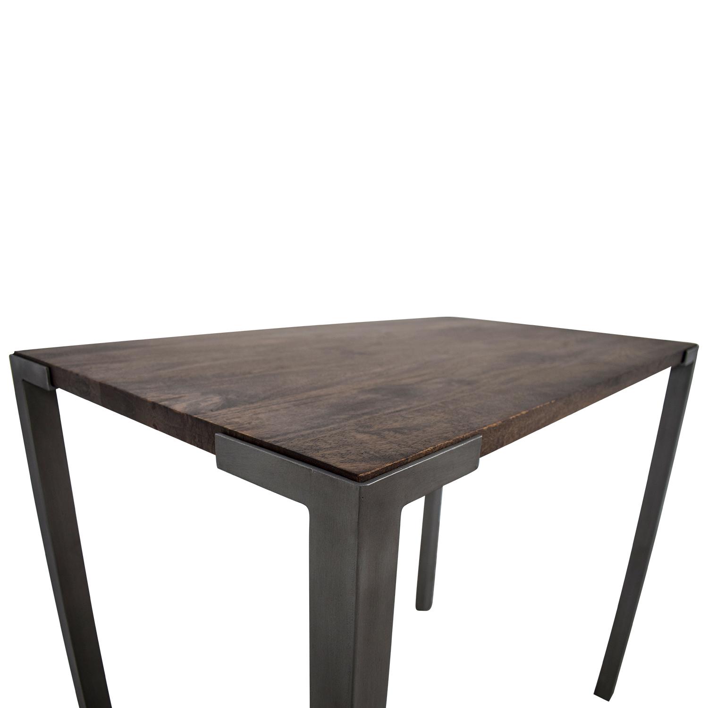 shop CB2 Stilt Wood and Metal Table CB2 Dinner Tables