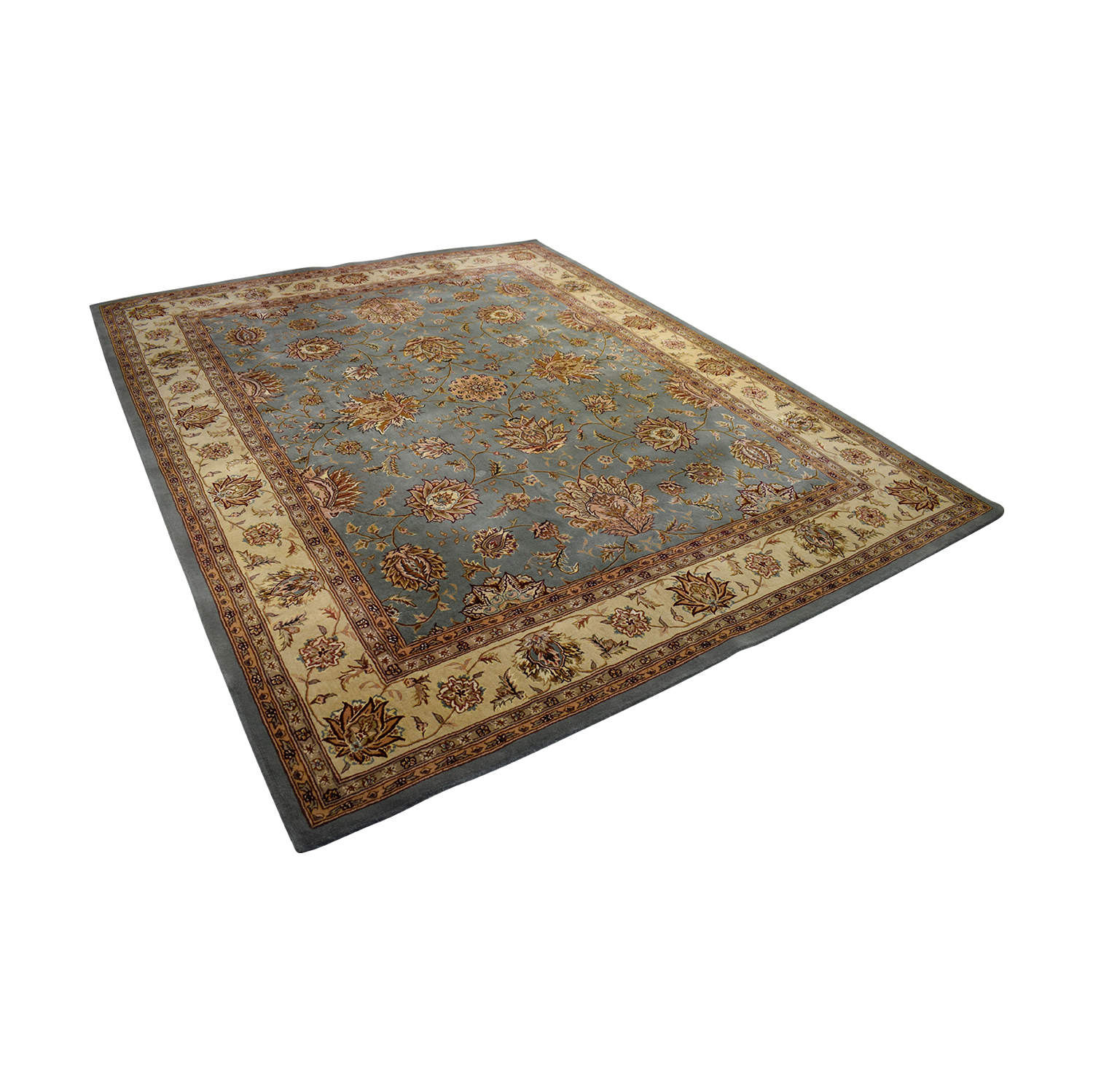 New Zealand Wool And Silk Area Rug