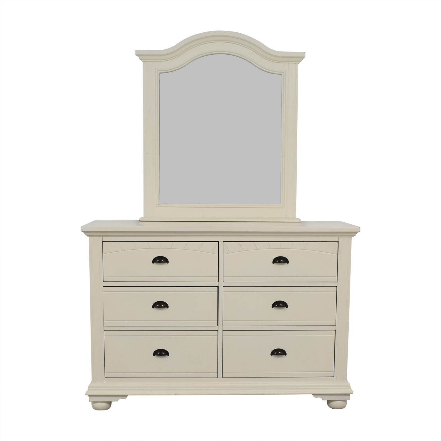buy Bob's White Six-Drawer Dresser Bob's Discount Furniture Dressers