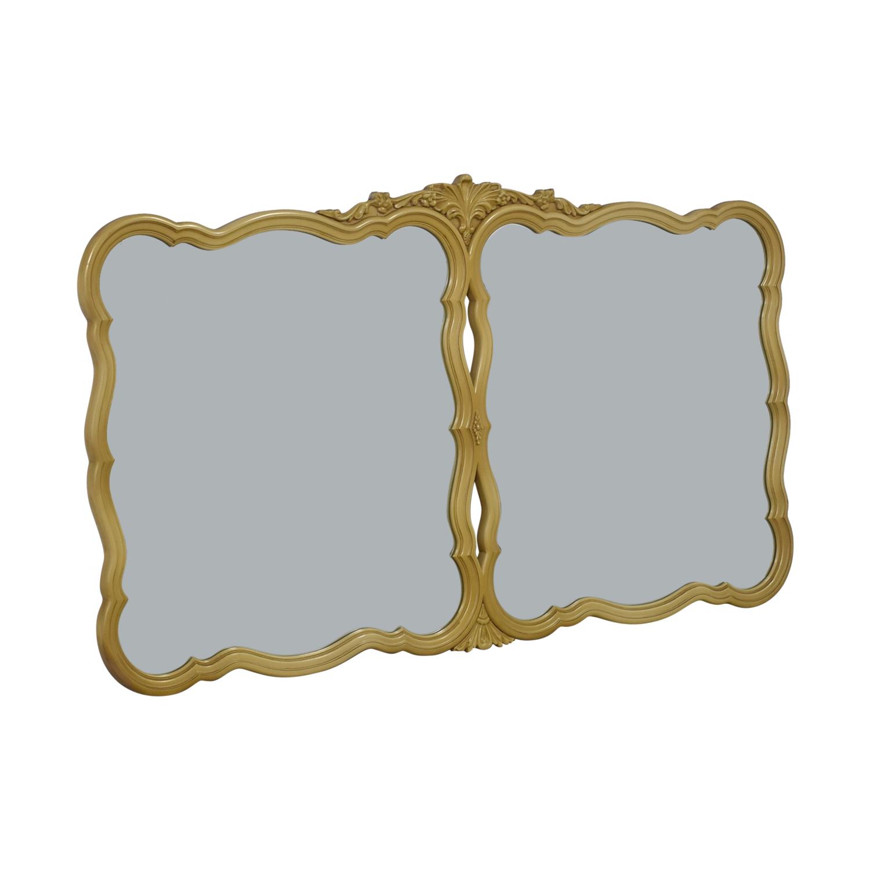 buy  Vintage Industrial Yellow Double Mirror online