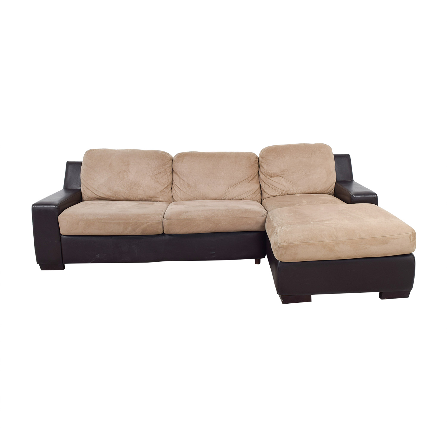 Pottery Barn Pottery Barn Brown and Beige Chaise Sectional coupon