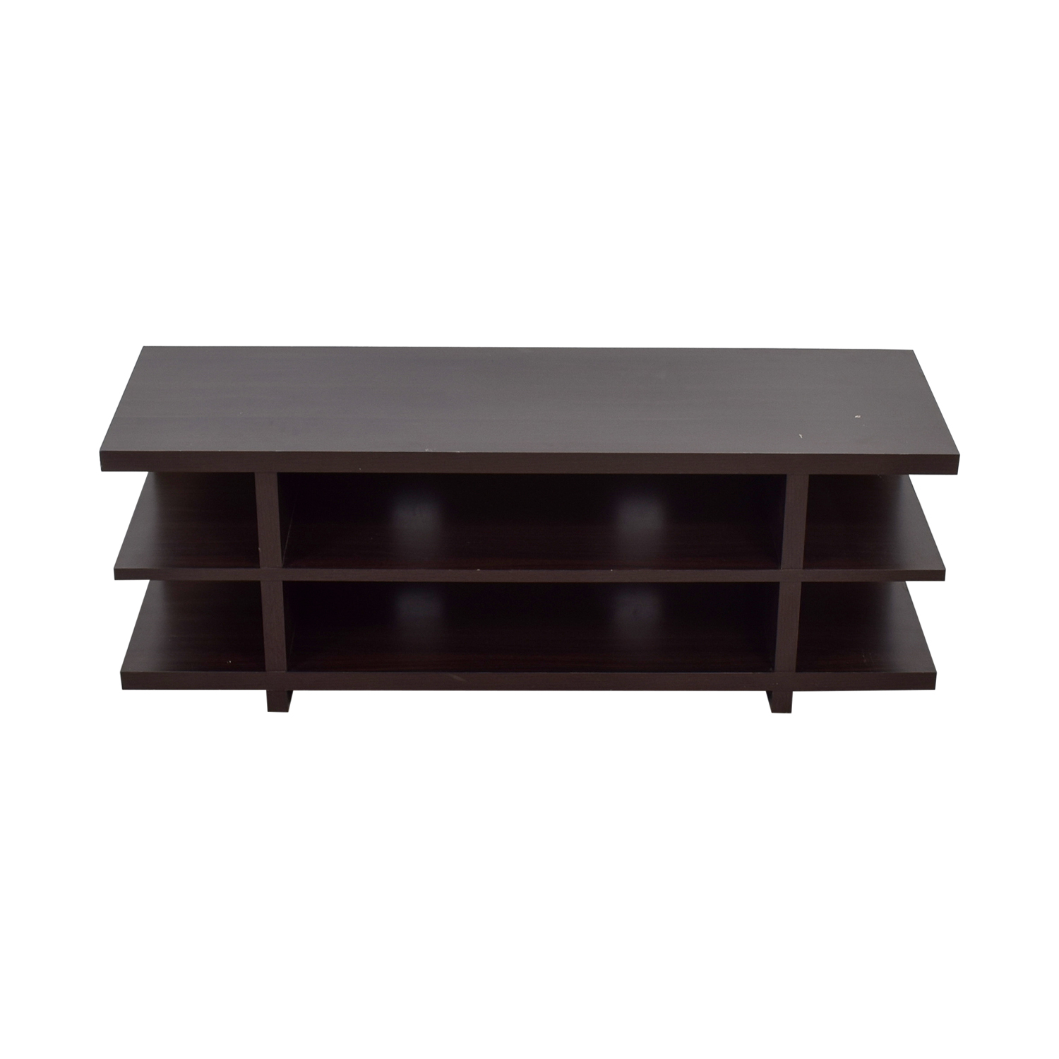 Pottery Barn Open Shelf TV Stand sale