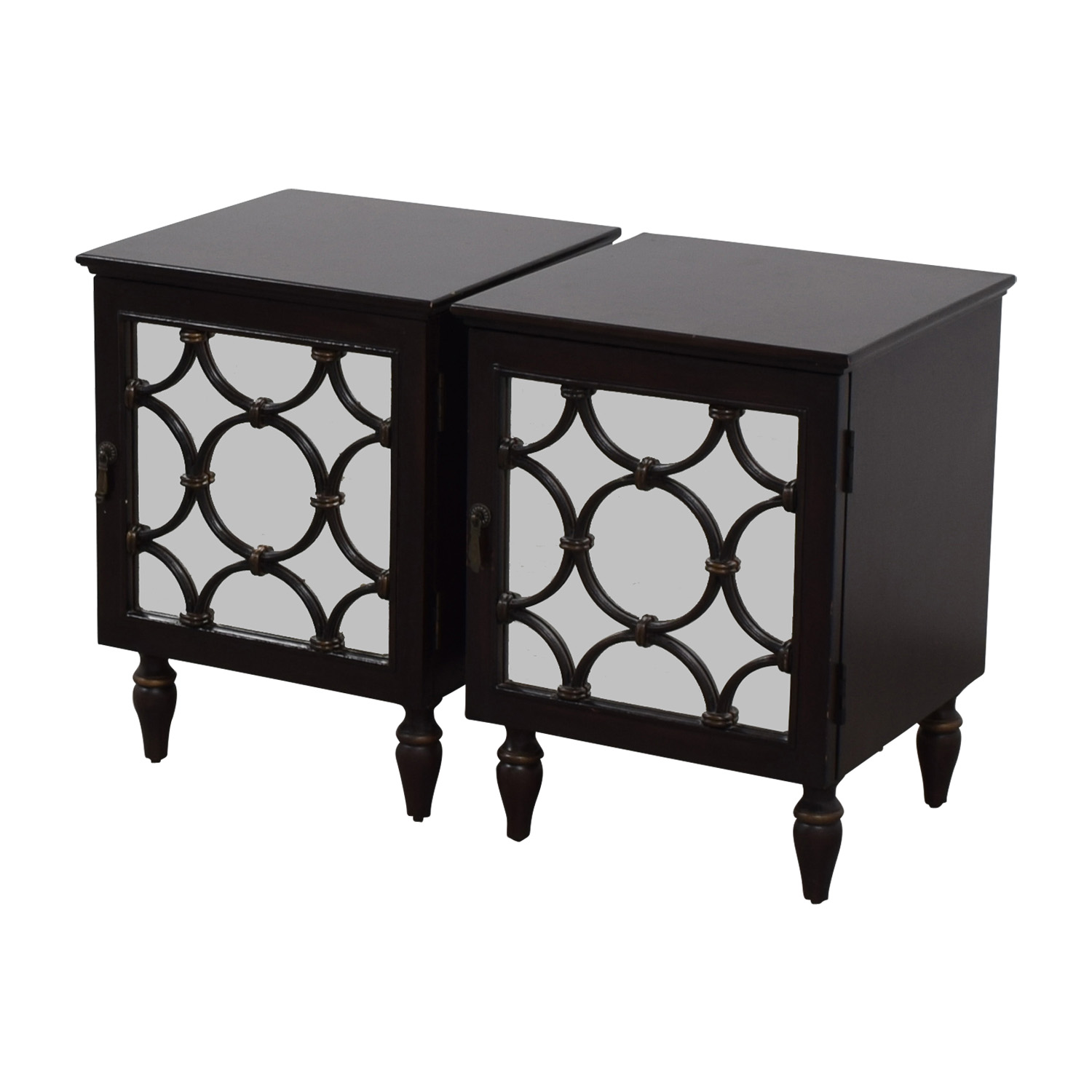 ... Pottery Barn Pottery Barn Mirrored Side Tables On Sale ...
