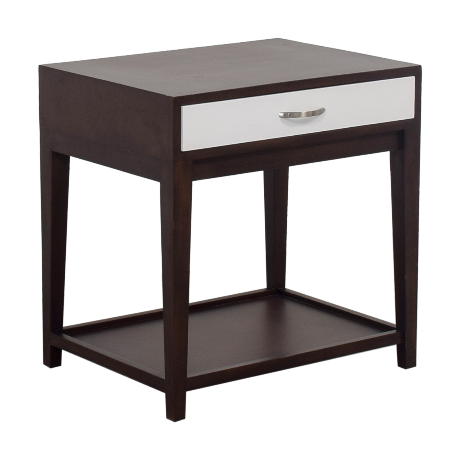 shop Buccola Brown and White Nightstand Buccola End Tables