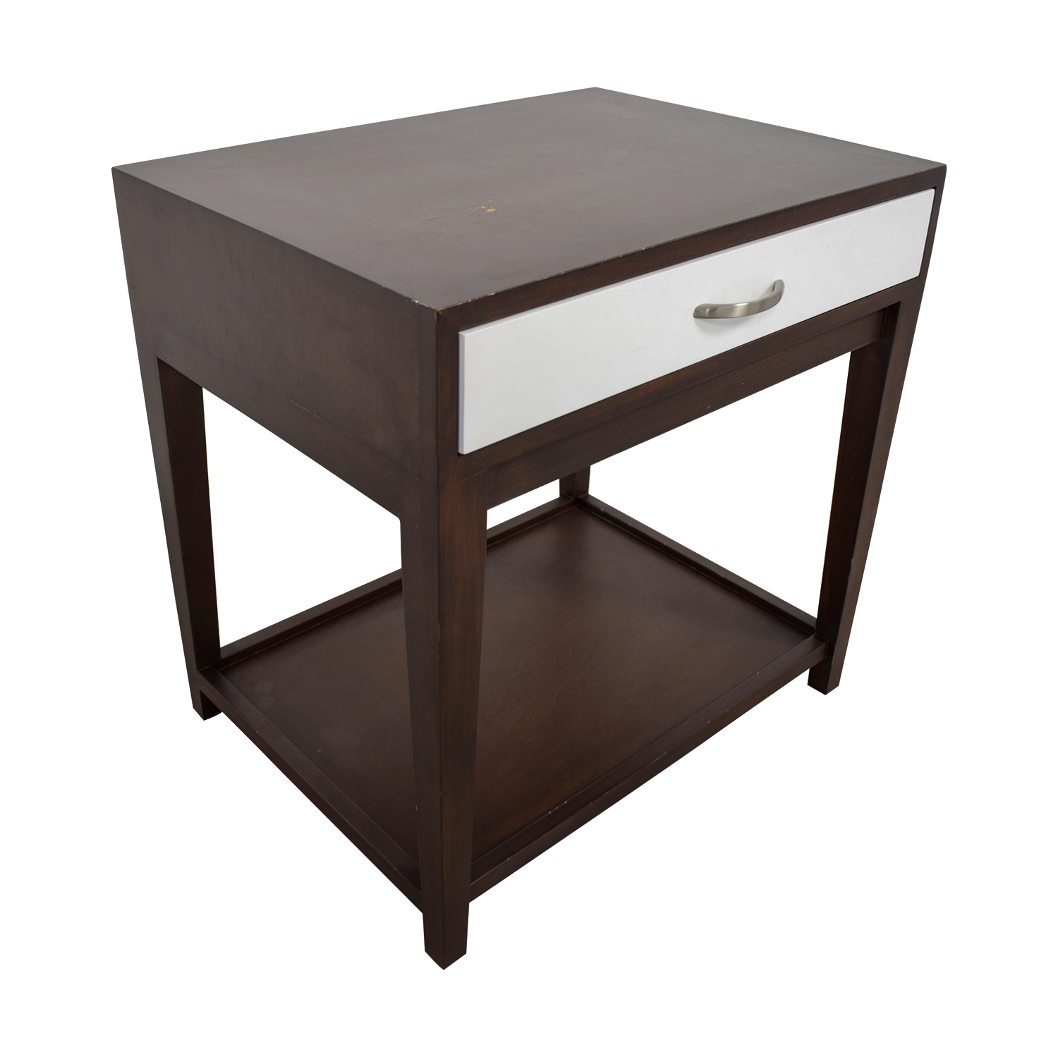 Buccola Buccola Brown and White Nightstand on sale