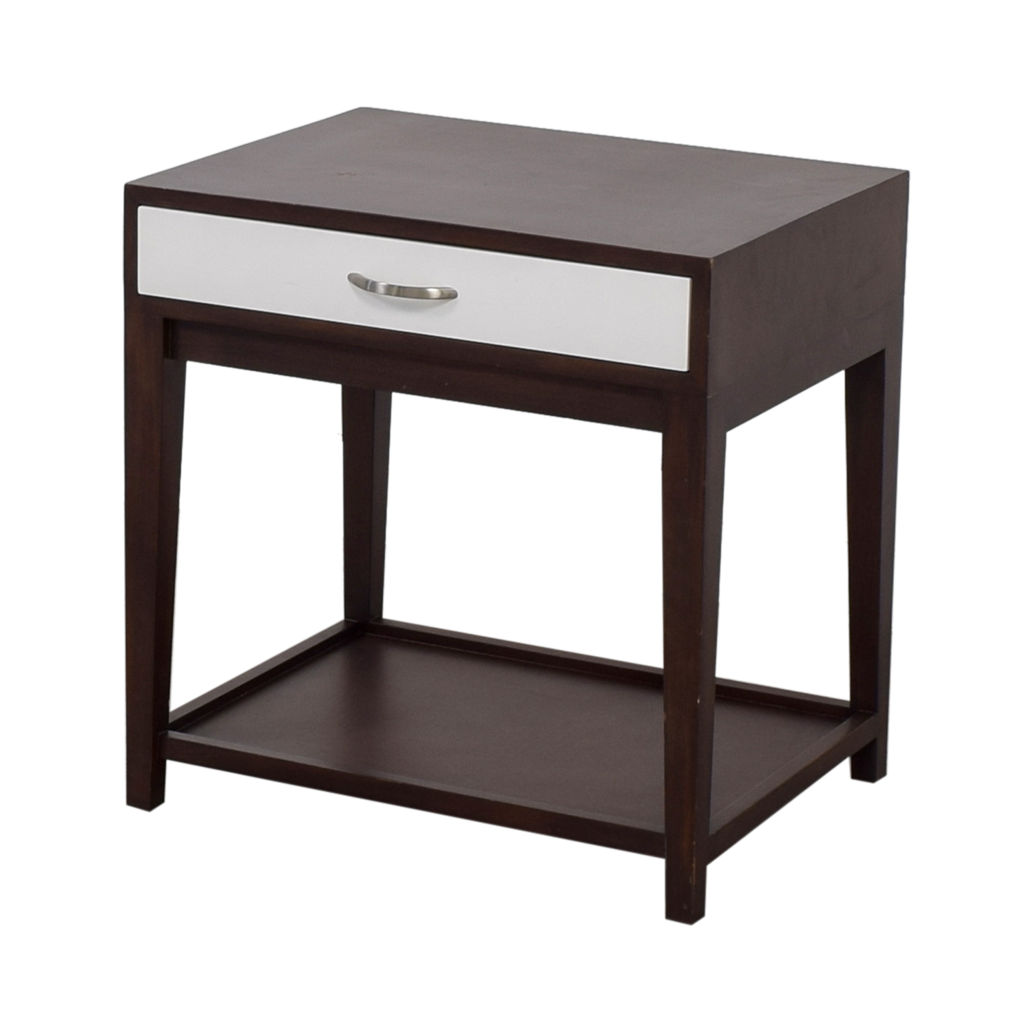 buy Buccola Brown and White Nightstand Buccola End Tables