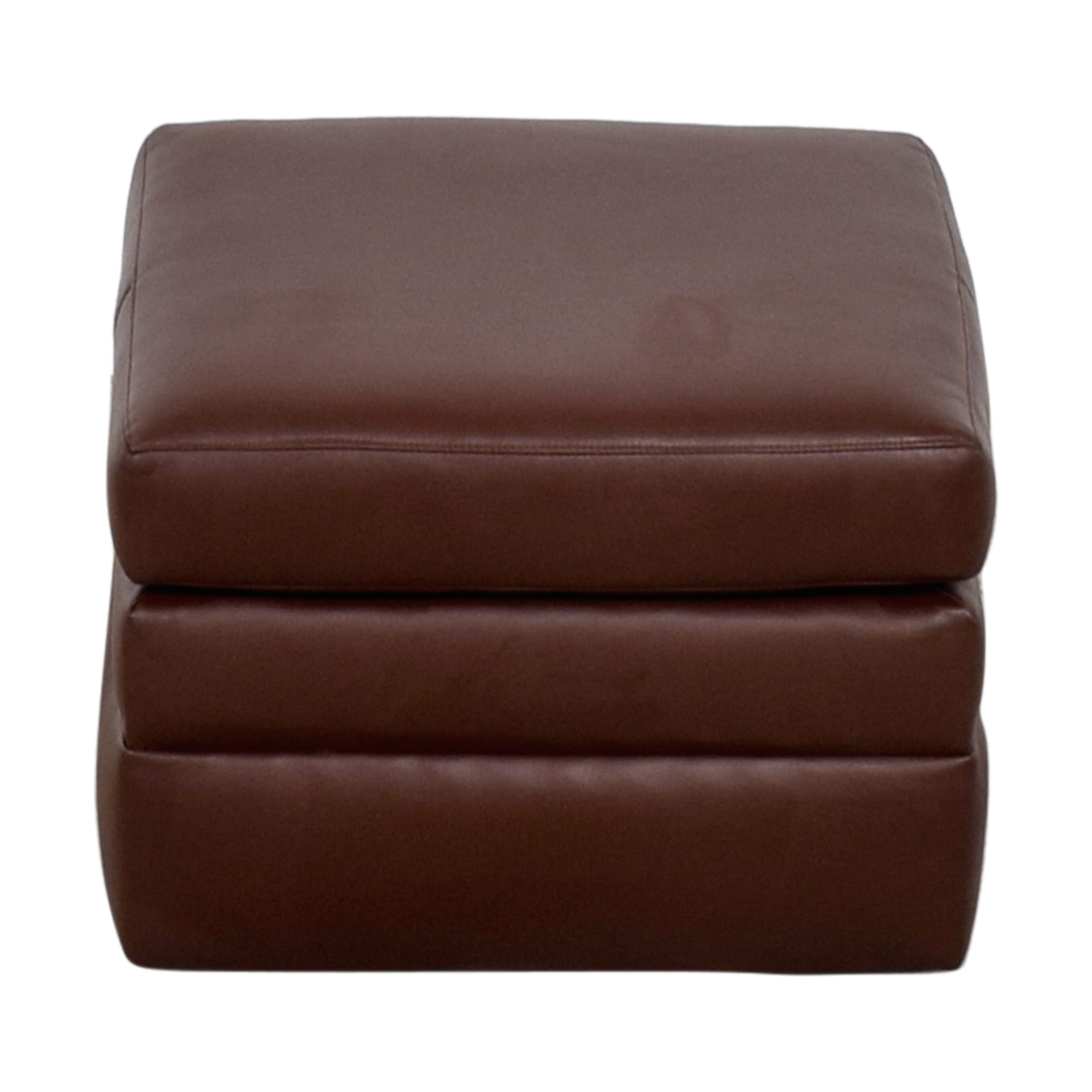 shop  Custom Made Faux Leather Ottoman online