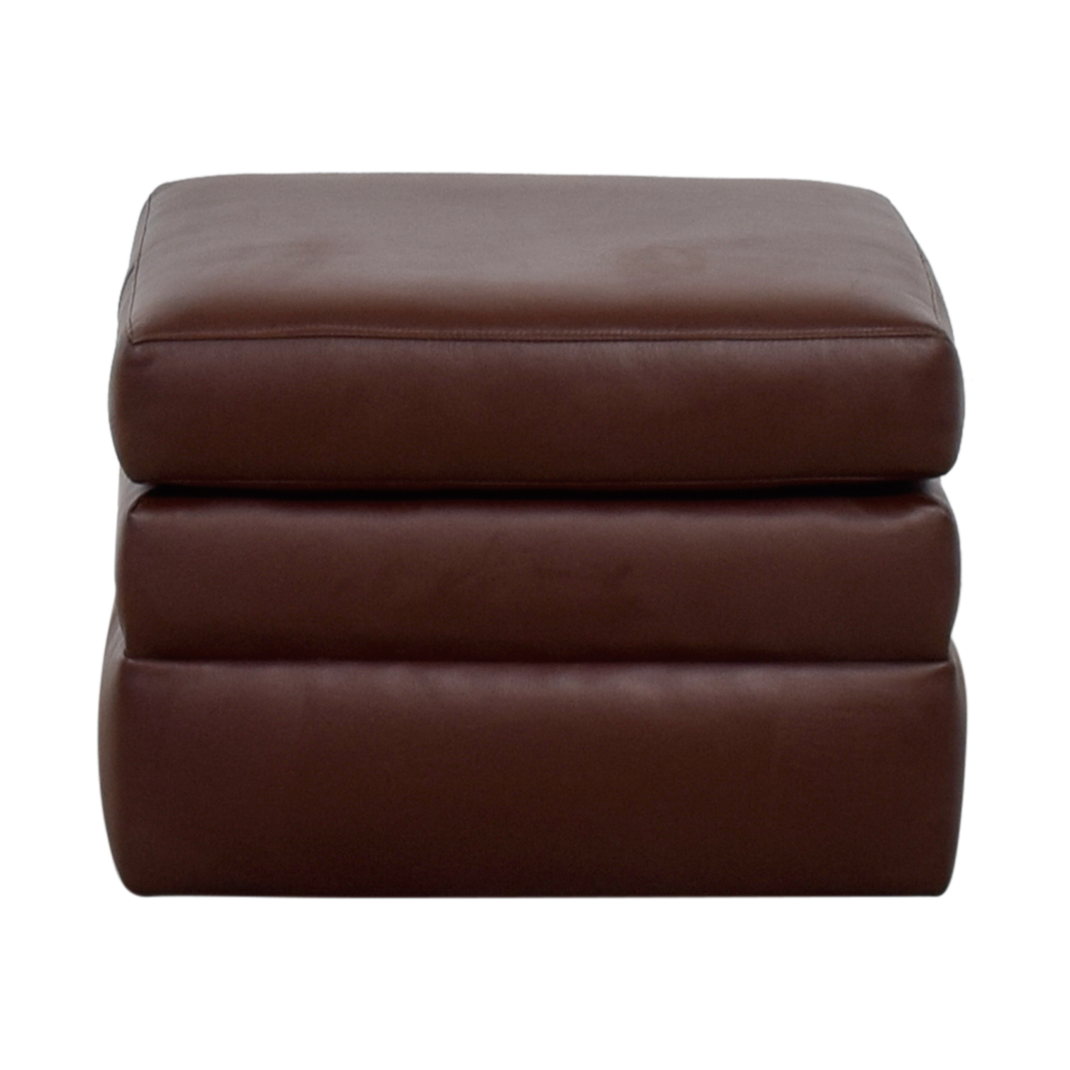 Custom Made Faux Leather Ottoman discount