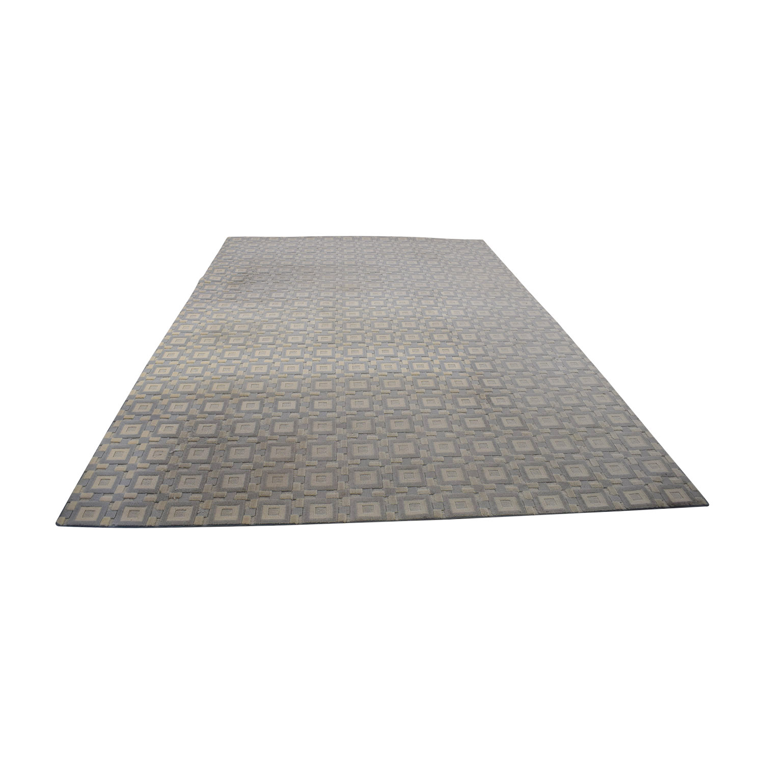 Gray and White 9x12 Natural Fiber Rug