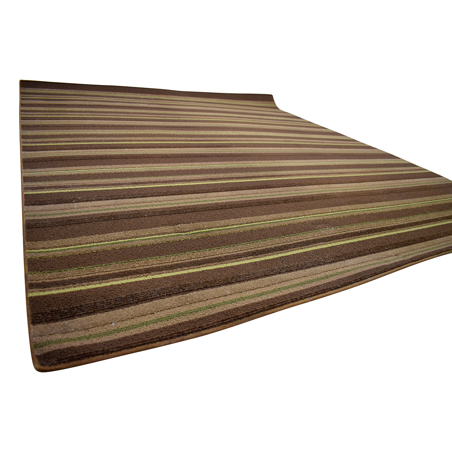 Brown Stripe 5x7 Rug second hand