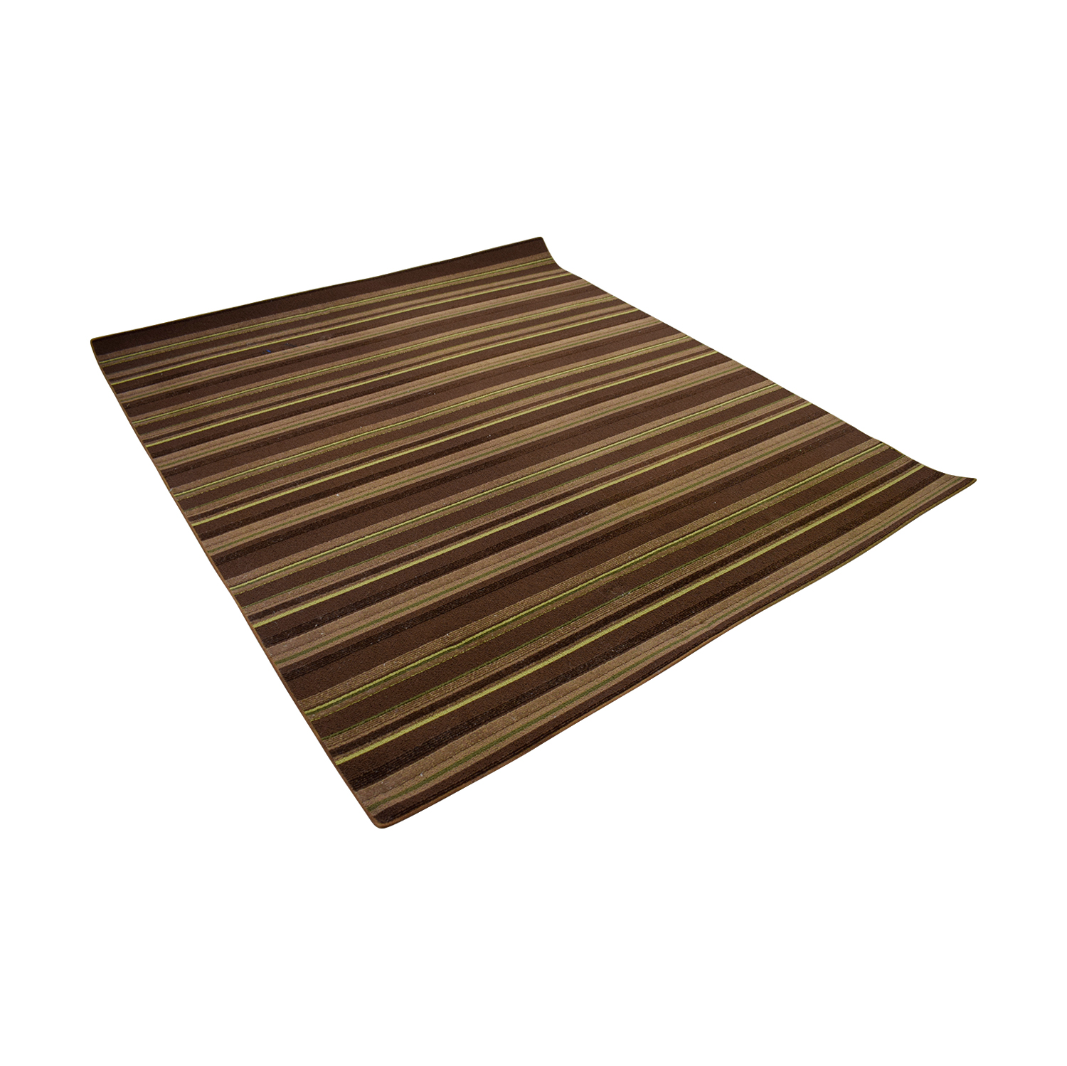 Brown Stripe 5x7 Rug brown
