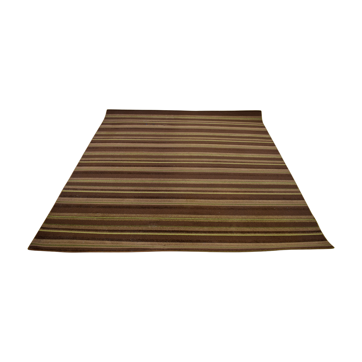Brown Stripe 5x7 Rug