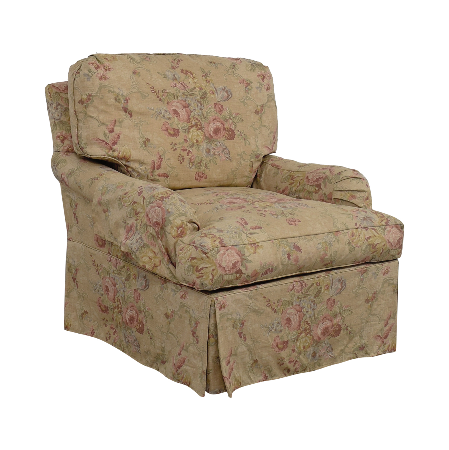 Beige And Green Floral Accent Chair: Domain Domain Beige And Pink Floral Accent Chair