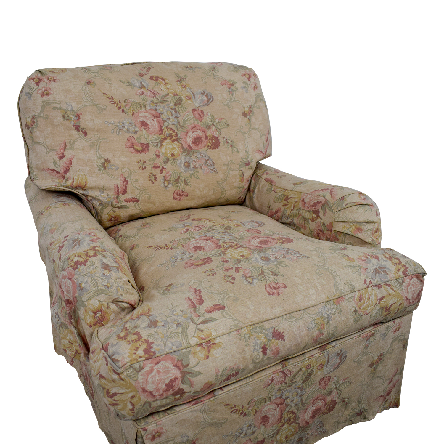 Floral Accent Chairs.90 Off Domain Domain Beige And Pink Floral Accent Chair Chairs